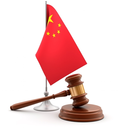 China Flag and Gavel