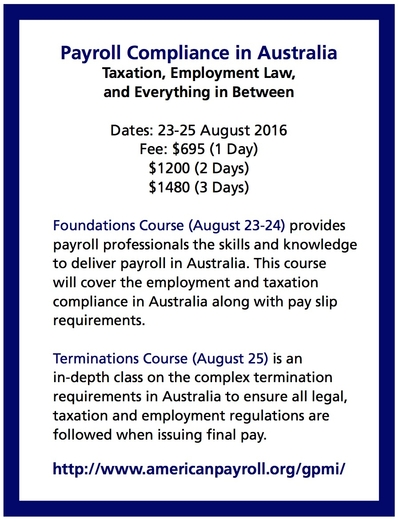 Payroll Compliance Courses