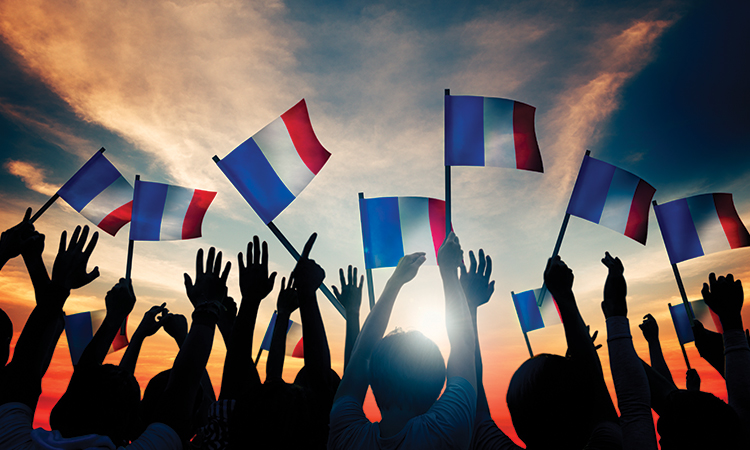 french flags waving