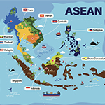 map of asean